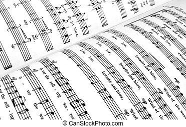 musica foglio, libro
