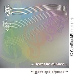 musica, fondo, con, note