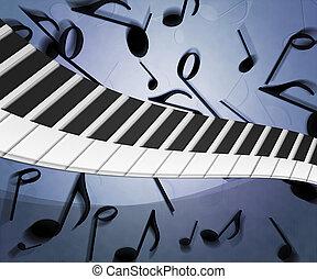 musica, fondo, struttura