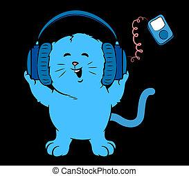 musica, gattino