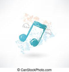 musica, grunge, ali, icona