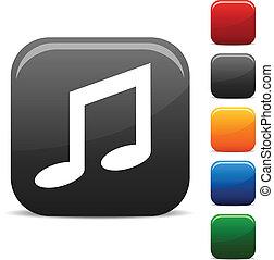 musica, icons.