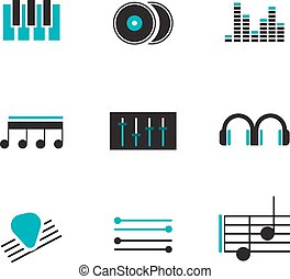 musica, logos, set