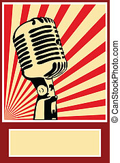 musica, manifesto, microfono