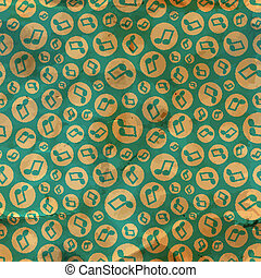 musica, note., seamless, pattern.