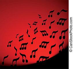 musica, rosso