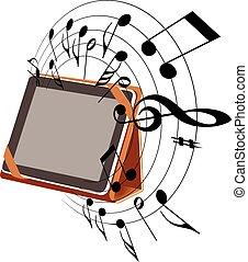 musica, tavoletta