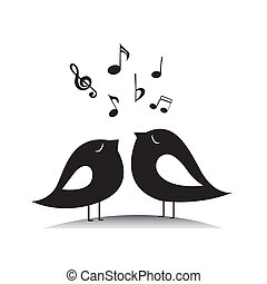 musica, uccelli