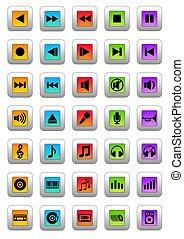 musical, ícones