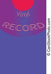 Musical audio is an old vintage retro hipster antique vinyl of the 50's, 60's, 70's, 80's, 90's copy space. Vector illustration