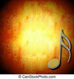 musical background card - music background silver and gold...