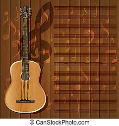 musical background guitar frame clef