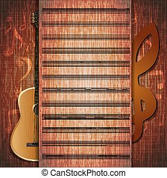 musical background guitar frame