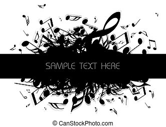 musical background with place for your text (black and...