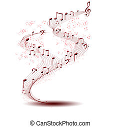 musical background - composition made of note sing against...