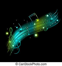 Musical background - Vector musical shiny background