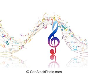 Musical background with clef