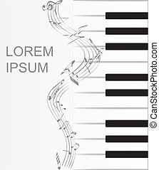 Musical background with piano