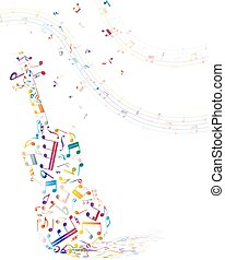 Musical background with violin