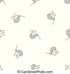 Musical bagpipes pattern seamless vector repeat geometric...