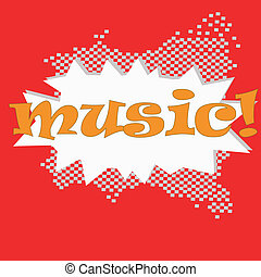 Musical bright background. A vector Illustration