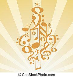 Musical Christmas tree