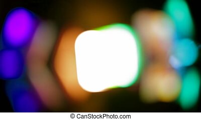 Musical Color Equipment Changing Colors On Blurred Background