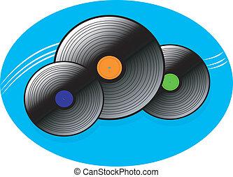 Musical disc retro