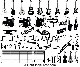 musical elements - Big collection of musical elements for...