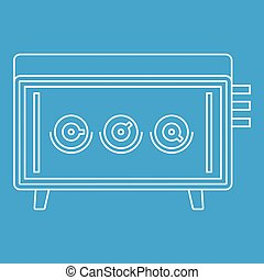 Musical equipment icon, outline style