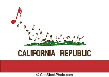 Musical Flag of the State of California