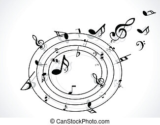 musical, fond, résumé