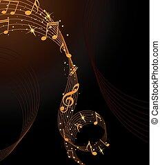 musical, fundo, abstratos