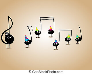 Musical greeting card - Vector musical greeting card with...