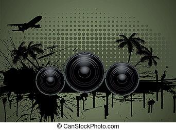 Musical grunge background