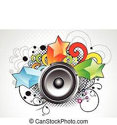 musical, grunge, som, abstratos