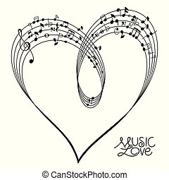 Musical Heart Shape
