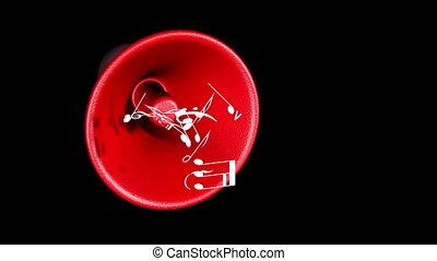 Musical Horn - Horn spread musical notes