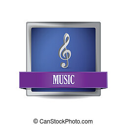 musical icon button illustration