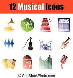 Musical icon set