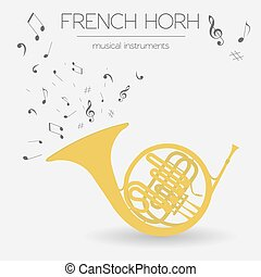 Musical instrument. French horn