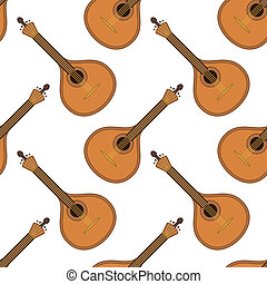Musical instrument mandolin, seamless