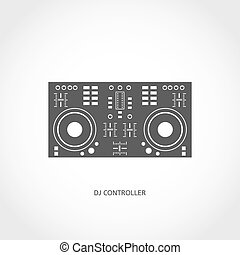 Musical instrument mixing console flat icon