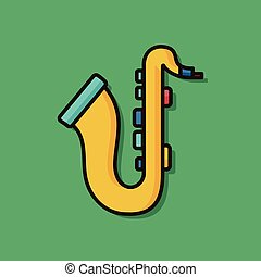 musical instrument saxophone icon