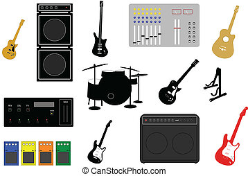 musical instruments and electronic studio equipment...