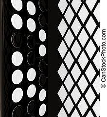 Musical instruments - bayan, close-up