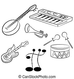 Musical Instruments - An image of musical instruments.