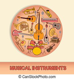 Musical instruments in a circle-02