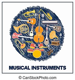 Musical instruments in a circle-03