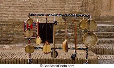 Musical instruments in Uzbekistan - A medium, still shot of...